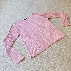 Eileen Fisher pink cropped sweater.
